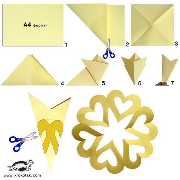 Paper heart wreath - link has a few more paper heart templates