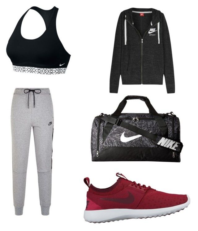 """""""Gym ready!"""" by camryngarland ❤ liked on Polyvore featuring NIKE"""