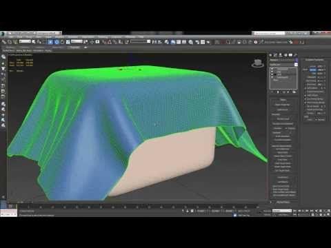 3ds Max Tutorial (Beginner) -- Cloth Simulation - YouTube