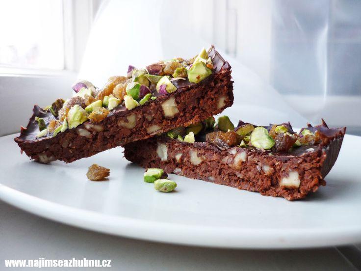 Extra čokoládové brownies s kokosem
