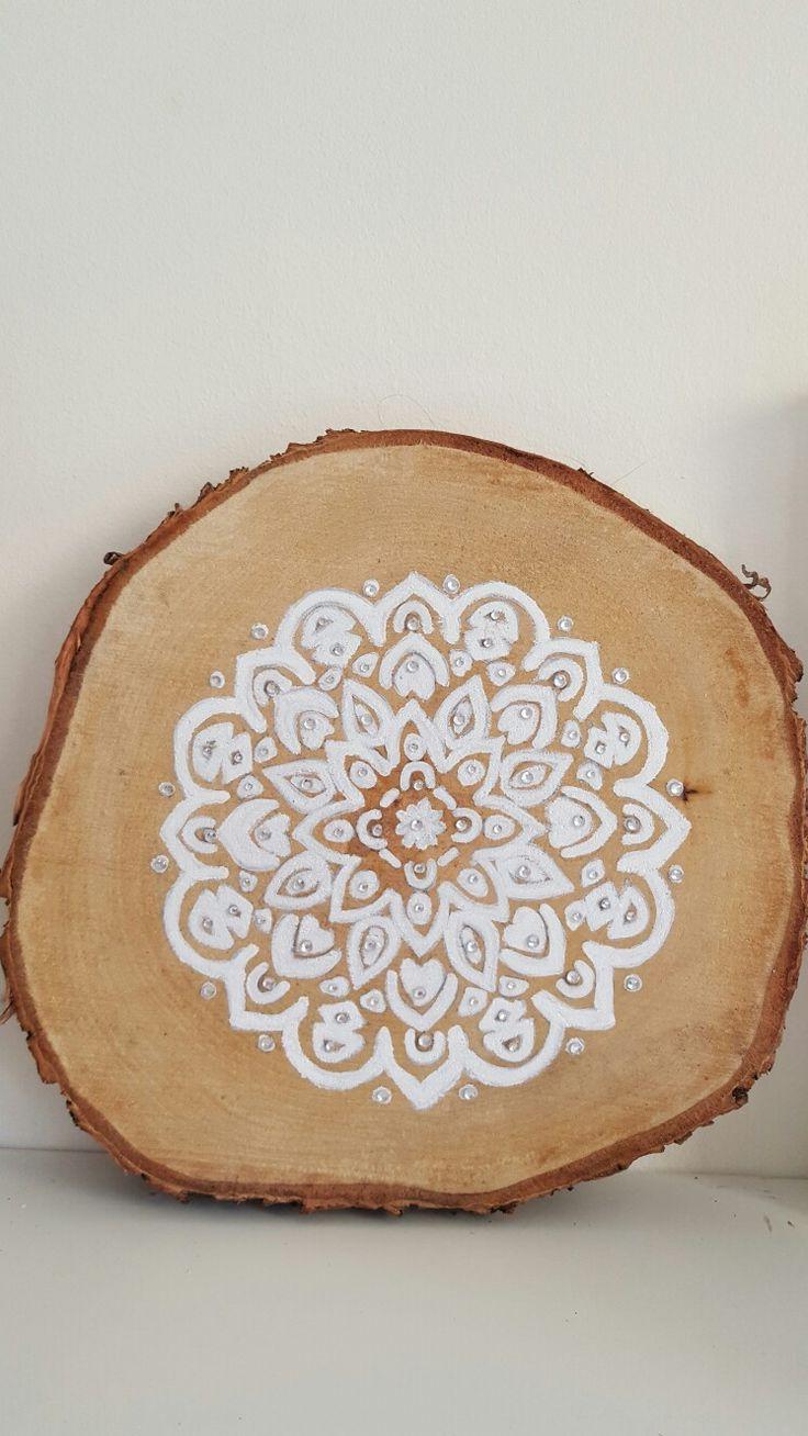 Mandala op boomschijf