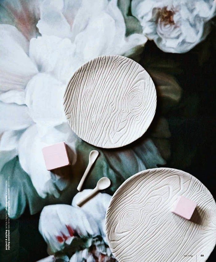 A cool project using air-dry clay and a woodgrain mat. Get the idea in the September '14 issue of Real Living. (Photo by Sharyn Cairns, Project and Styling by Tamara Maynes for Real Living.)