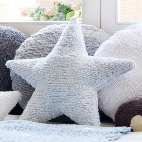 Coussin en coton Star (gris, rose ou blanc) Lorena Canals