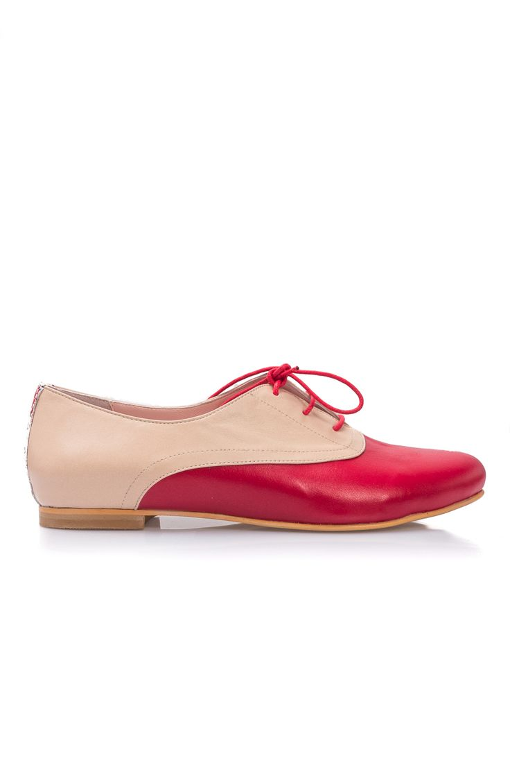 PassepartouS | Pantofi Oxford Scarlet Red | WE LOVE COUTURE