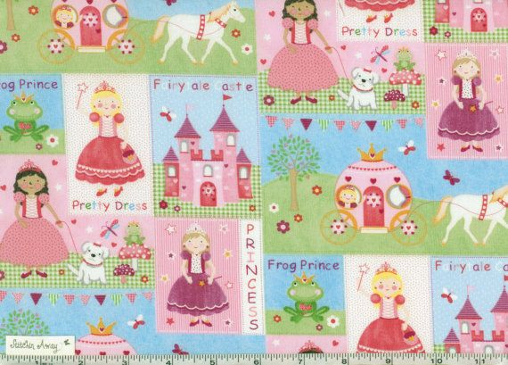 Princess Fairytale Castle Amp Frog Prince Fabric New 100