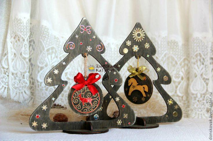 Купить Деревянная объемная елочка - Новый Год, новый год 2014, подарок на новый год, сувенир на Новый год