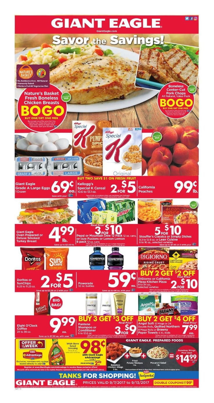 Giant Eagle Weekly Ad September 7 - 13, 2017 - http://www.olcatalog.com/grocery/giant-eagle-weekly-ad.html