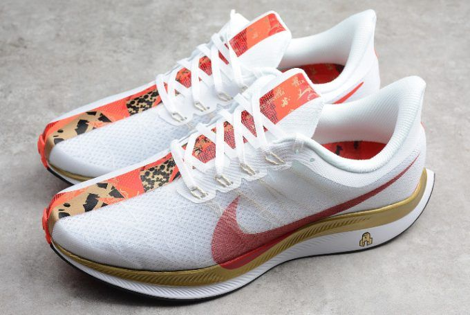 c635a36ba32fc Nike Air Zoom Pegasus 35 Turbo 2.0 White Red-Gold For Men in 2019 ...