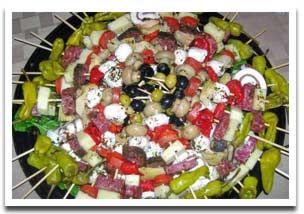 Italian Antipasto Skewers Party Food Idea