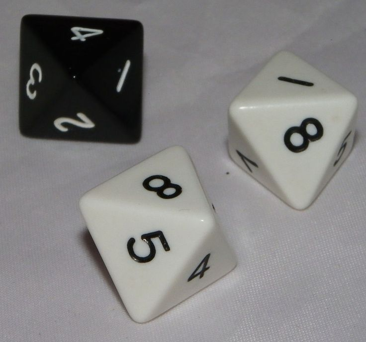 Risk 2210 A.D. Replacement 8 Sided Dice 8 Sided Set of 3 Dice Avalon Hill #AvalonHill