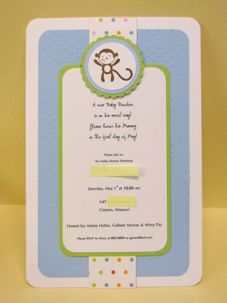 31 best stampin up invitations images on pinterest invitation stampin up invitation monkey invitationsbaby shower filmwisefo