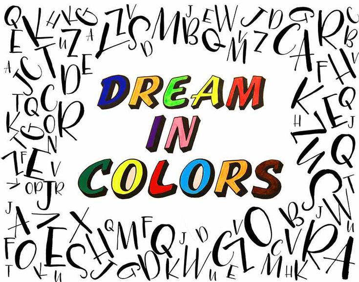 Handlettering with brushpens by Elke Wunsch. Dream in Colors