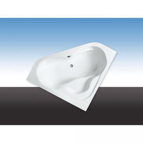Eckbadewanne 140x140 cm, Modell Rocky (weiß)