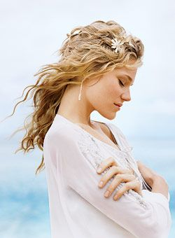 Beach wedding hair - beautiful even if there is no beach!