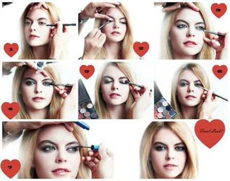 easy valentines day eye make up tutorials 2014 for
