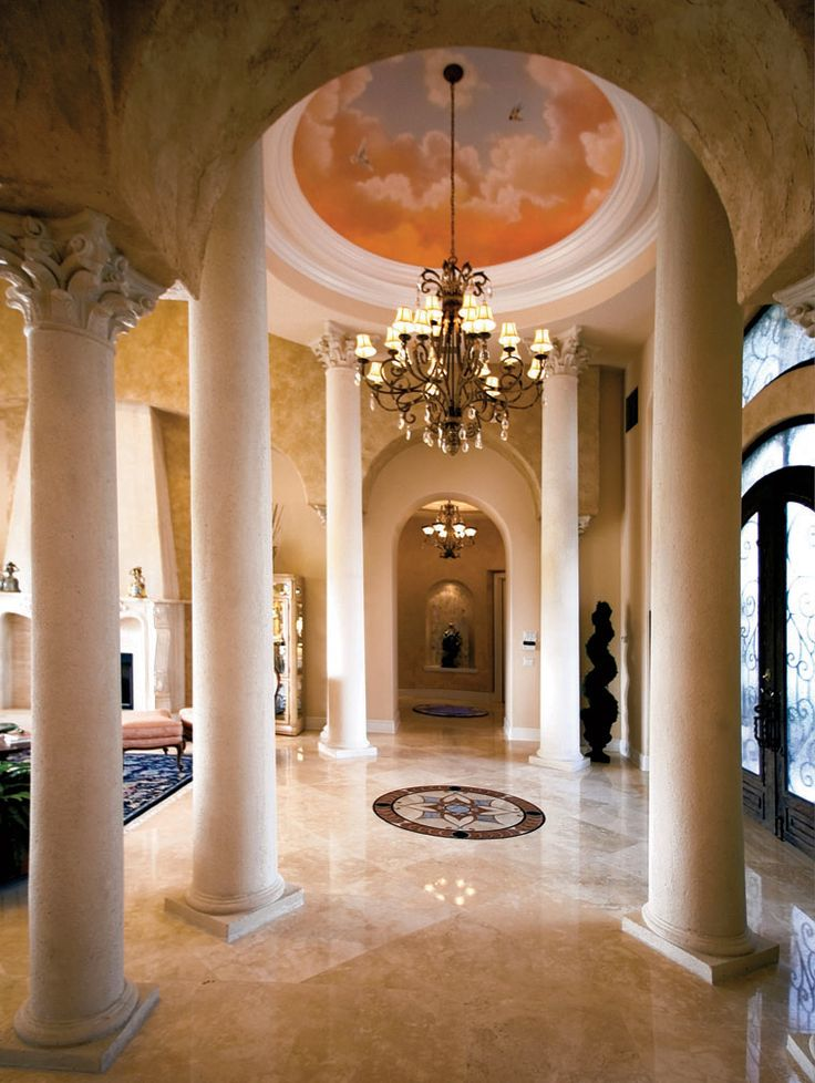 Mediterranean Grand Foyer : Best entryways and foyers images on pinterest door