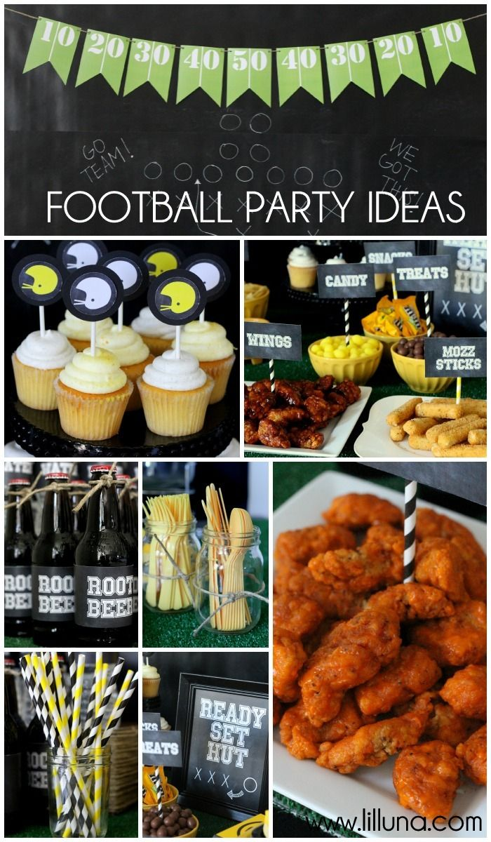 Football Party Ideas with Free Printables! { lilluna.com } #football