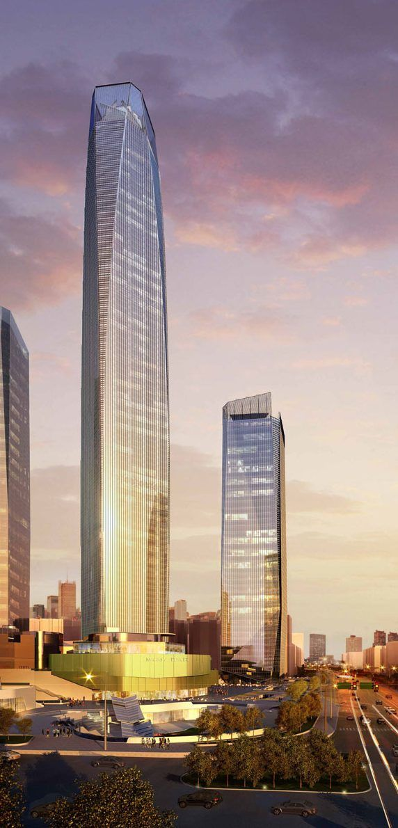 Dongguan Intenational Trade Center, Dongguan, China by 5+Design :: 88 floors, height 428m