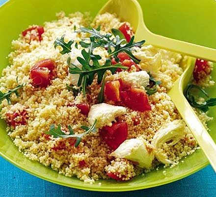 Keep some couscous in your cupboard as a stand-by, it's ready in minutes