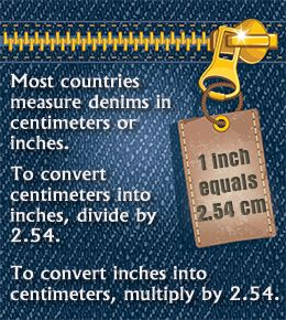 Jeans Size Conversion Chart: USAUKFranceItalyJapanCheck Size ↑ Enter your measurement to… #Life_Style #convert #denim #donna_ida #jeans