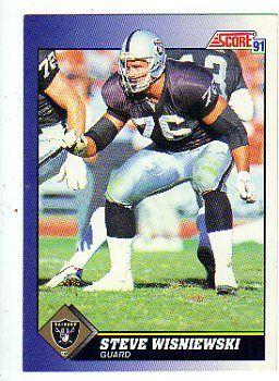 steve wisniewski football cards | Steve Wisniewski 1991 Score football Card