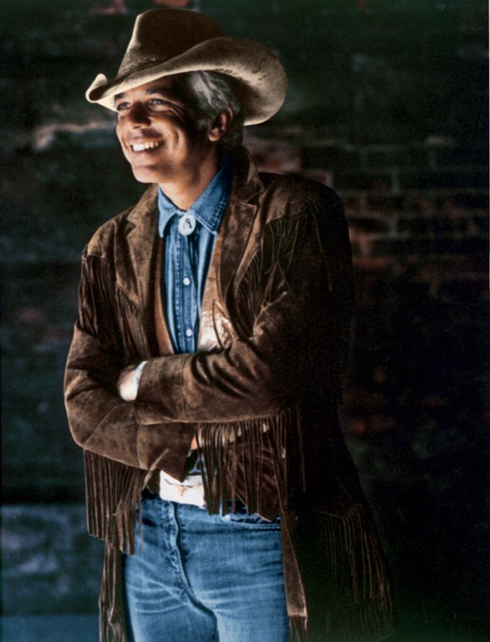 """1978: Ralph Lauren's first Western-inspired collection debuts  """"Ralph was the first designer to go West and find something distinctly American worth repeating on the runway.""""   —Phoebe Eaton, Harper's Bazaar, 2006"""