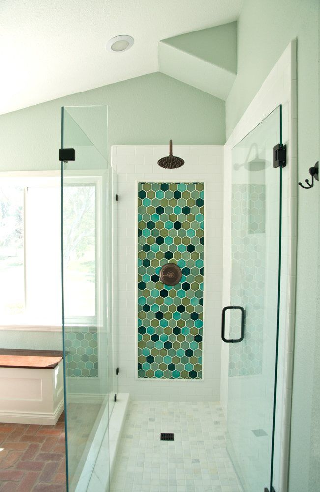 Hexagon shower accent installation gallery fireclay for 0 bathroom installation