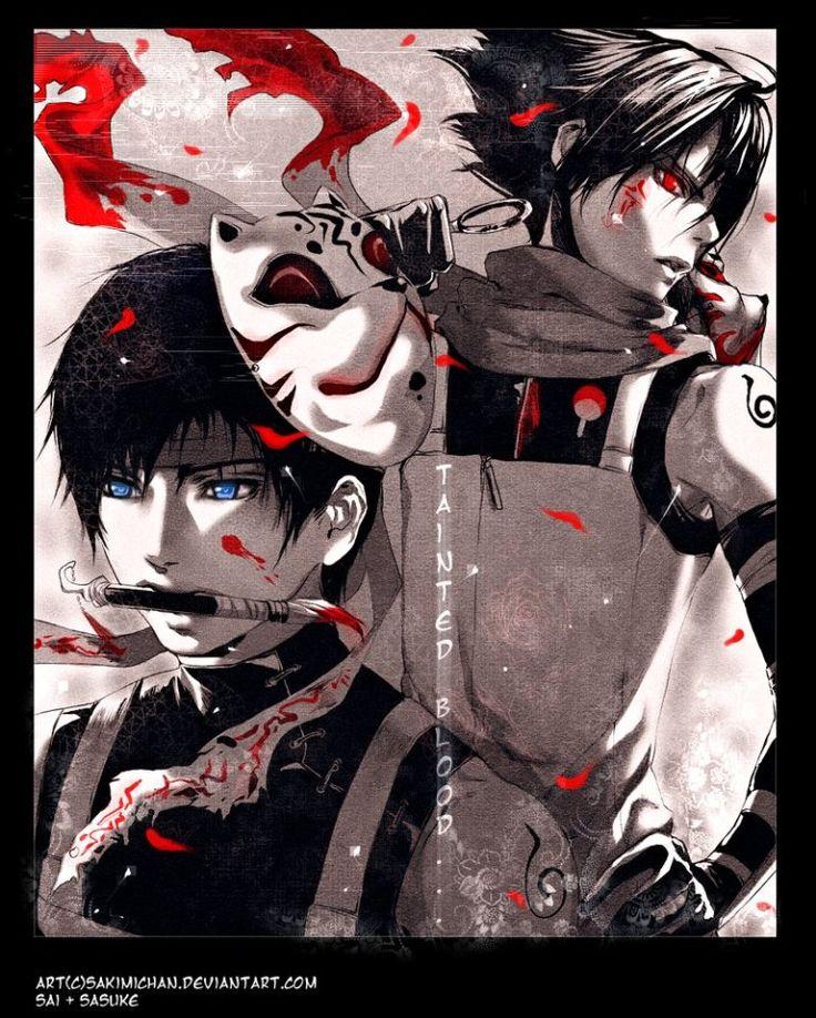 Sai & Sasuke Naruto Anime, Anime comics, Naruto