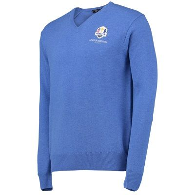 The 2018 Ryder Cup Glenmuir Lomond V-Neck Lambswool Sweater - £85