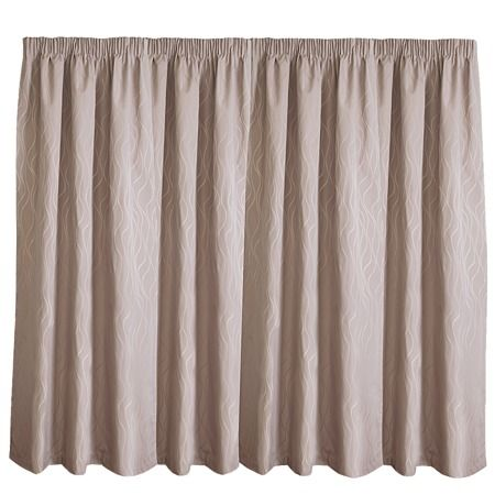 Elemis Curtains Piha Taupe Large 160cm Drop