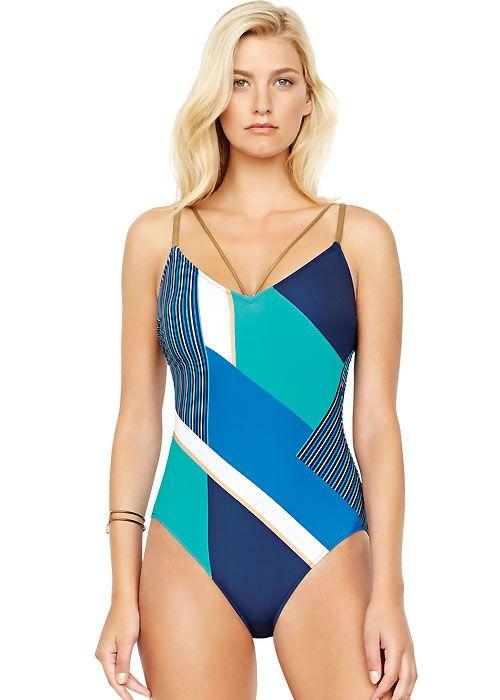 Gottex Maritime V Neck Swimsuit In 2019 Women S Swimwear