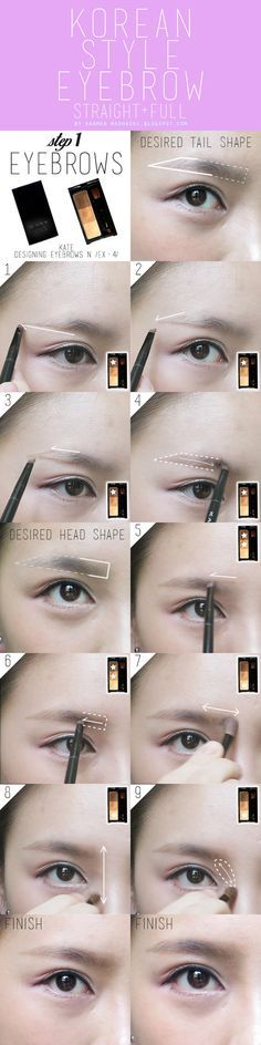 korean style eyebrow tutorial pictorial