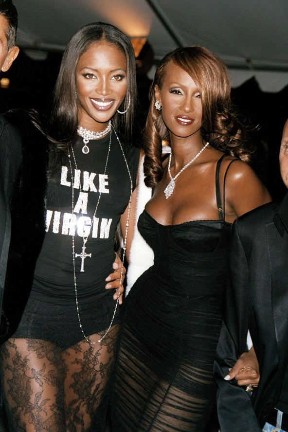 Naomi and Iman/Two of the best iconic black models ever in my opinion!
