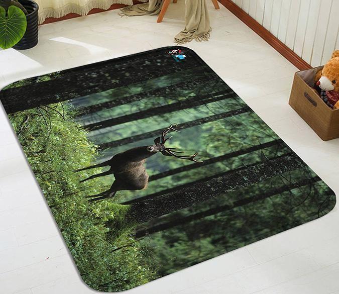 3d Forest Deer 109 Non Slip Rug Mat Aj Wallpaper Rugs Carpet