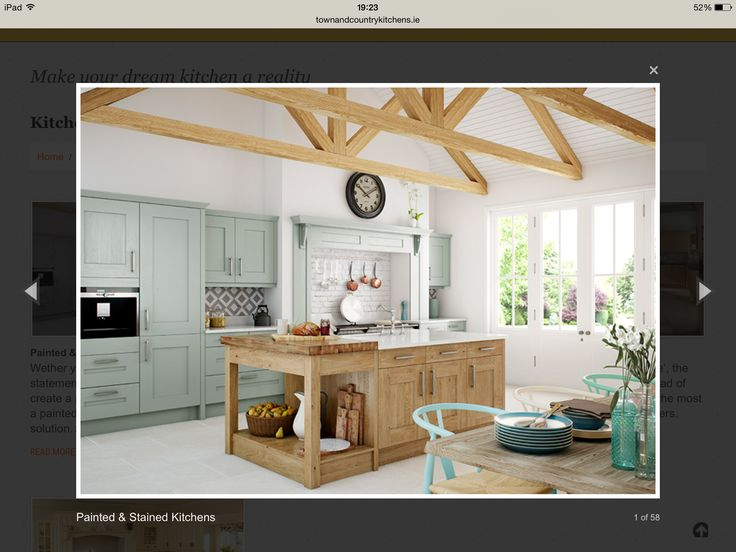 Painted Kitchen Wood Island Town Country Kitchens Dublin Ideas And Ireland