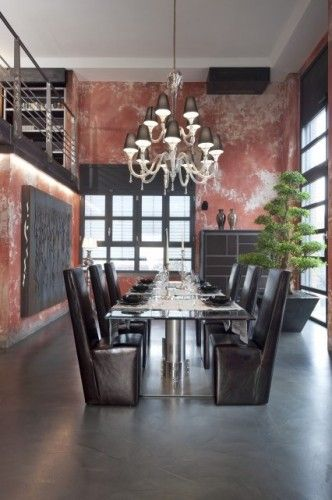 .Decor, Living Rooms, Modern Dining Rooms, Living Room Modern, Livingroom, Interiors Design, Wall Treatments, Painting Techniques, Dining Room Design