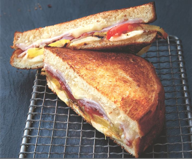 Everything you love about Hawaiian pizza, now in grilled cheese form!