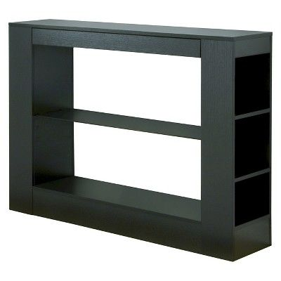 Annabel Modern Glass Top Buffet Table Black - HOMES: Inside + Out : Target