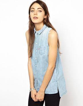 Levi's Sleeveless Denim Shirt