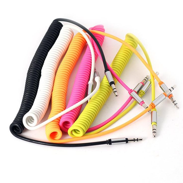 Top Quality 1PC Male To Male 3.5 mm Coiled Stereo Audio Cable Car Auxiliary Audio Cables for iPod iPhone MP3 Auto Supplies SE4