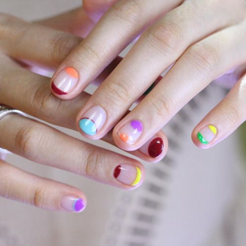Multicolor tips moons