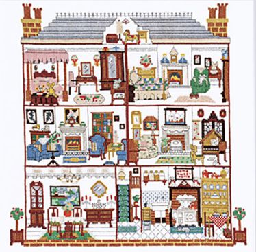 cross stitch doll house - Google Search