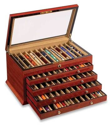 "I always wondered how you were supposed to store your pen collection... now I know! This is my kind of ""jewelry box."""