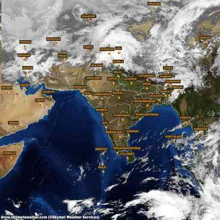 Latest INSAT satellite Image of India for 19 February 2015 at 12:00  http://www.skymetweather.com/insat/weather-satellite-images-of-india/12-00
