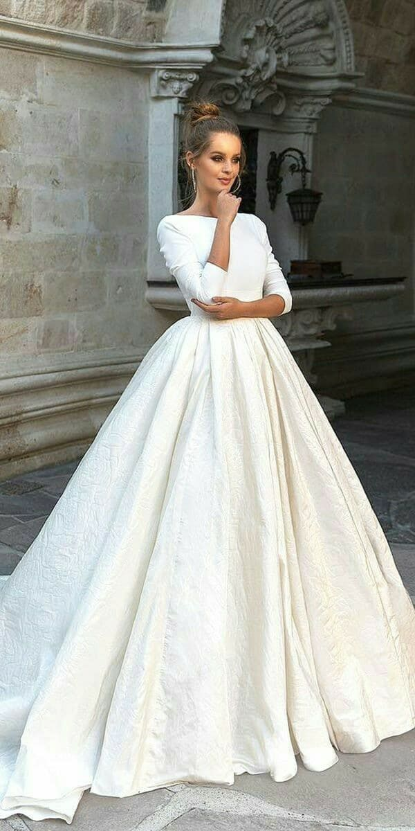 White Gown For Bride
