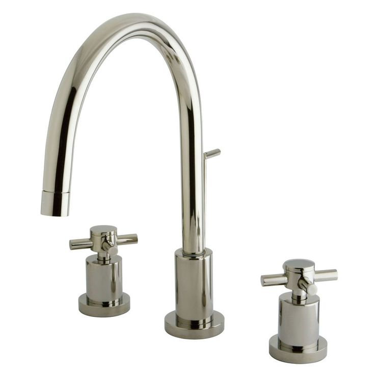 Kingston Brass KS8926DX Concord Widespread Lavatory Faucet with Brass Pop-Up, Polished Nickel - Price: $399.95 & FREE Shipping over $99