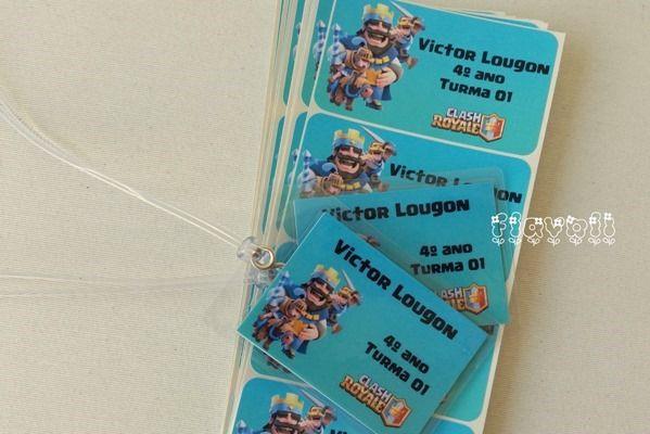 Tag e etiquetas escolares Clash Royale    :: flavoli.net - Papelaria Personalizada :: Contato: (21) 98-836-0113 - Também no WhatsApp! vendas@flavoli.net