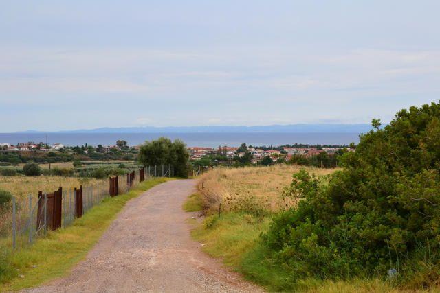 Blick zum Meer vom Chalkidiki Hinterland