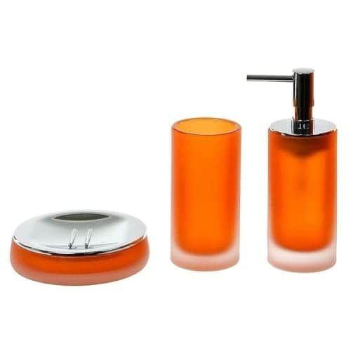 Die besten 25+ Orangefarbenes badezimmerzubehör Ideen auf - badezimmer zubeh r set