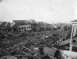 1900 texas hurricane...My husband's grandmother lived through this storm.  All that was left was a shotgun stuck in the mud in front of what used to be their home.